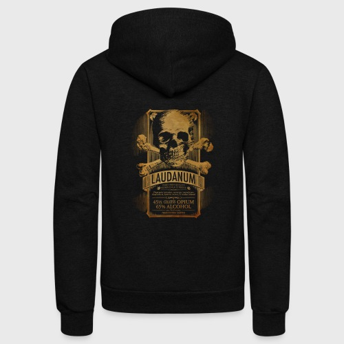 Laudanum Goth Steampunk Medical Doctor - Unisex Fleece Zip Hoodie