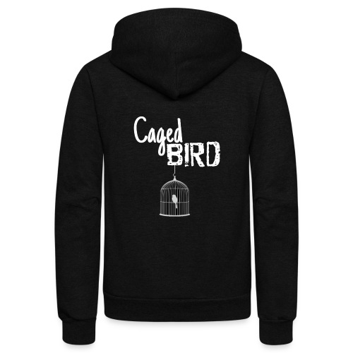 Caged Bird Abstract Design - Unisex Fleece Zip Hoodie