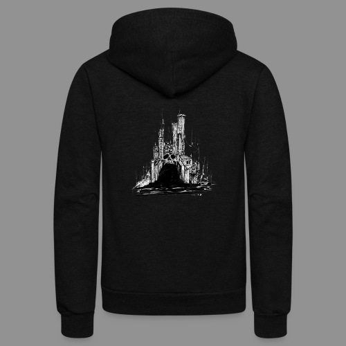 Wolfman Originals Black & White 20 - Unisex Fleece Zip Hoodie