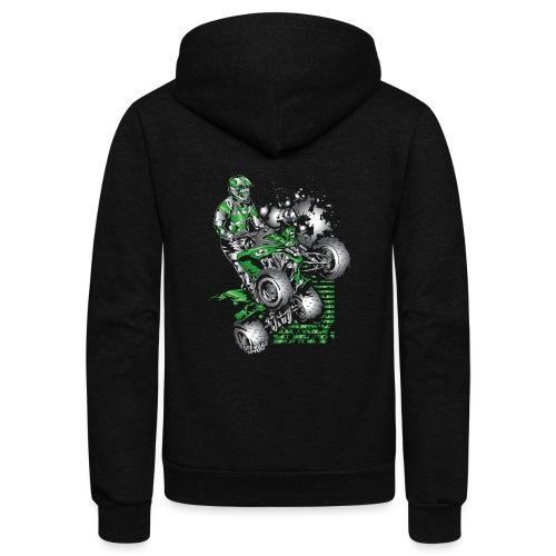 Yamaha ATV Grunge Quad - Unisex Fleece Zip Hoodie