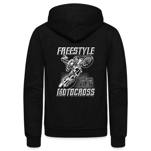 Freestyle Motocross Stunt - Unisex Fleece Zip Hoodie