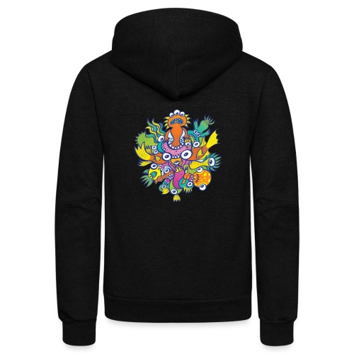 Don't let this evil monster gobble our friend - Unisex Fleece Zip Hoodie