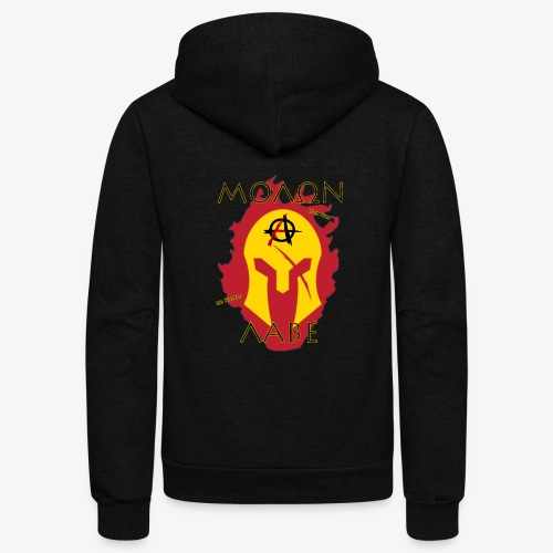 Molon Labe - Anarchist's Edition - Unisex Fleece Zip Hoodie