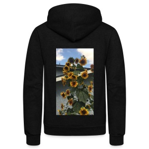 sunflower shirt - Unisex Fleece Zip Hoodie by American Apparel