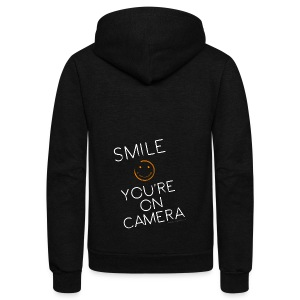 Smiley Cam Alert - Unisex Fleece Zip Hoodie