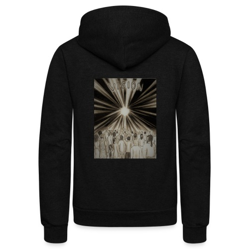 Black_and_White_Vision2 - Unisex Fleece Zip Hoodie