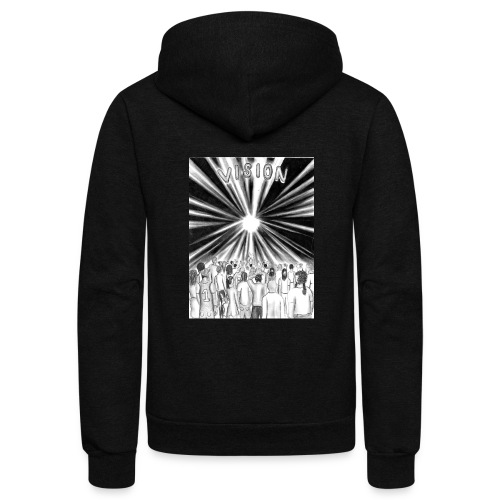 Black_and_White_Vision - Unisex Fleece Zip Hoodie