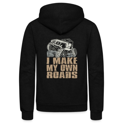 Jeep Make My Own Roads - Unisex Fleece Zip Hoodie