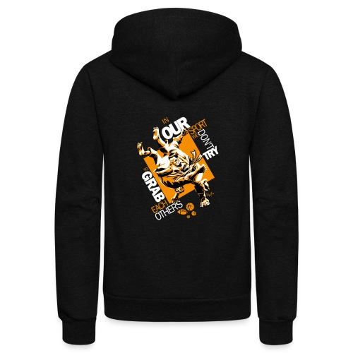 Judo Grab Design for dark shirts - Unisex Fleece Zip Hoodie