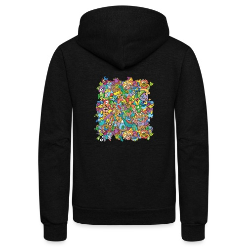 Crazy carnival full of color and cool characters - Unisex Fleece Zip Hoodie