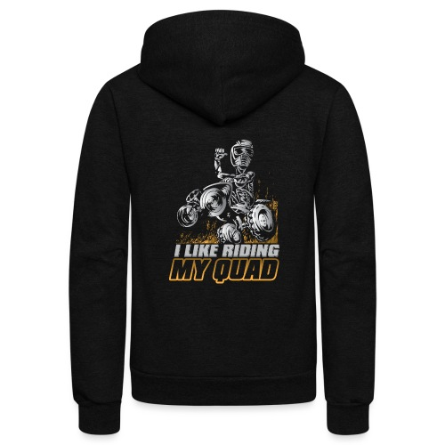 ATV Quad Like Stunt Rider - Unisex Fleece Zip Hoodie
