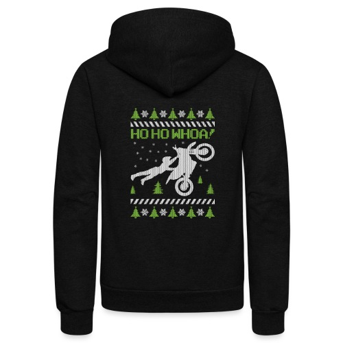 Motorcycle Ugly Christmas - Unisex Fleece Zip Hoodie