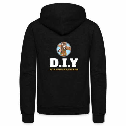 DIY For Knuckleheads Logo. - Unisex Fleece Zip Hoodie