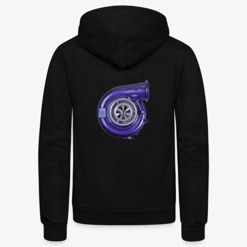 Blue Turbo Boost - Unisex Fleece Zip Hoodie