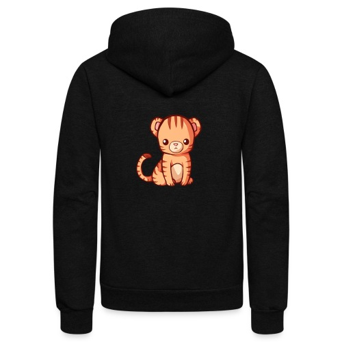 BlehhhhNation Tiger Kawaii - Unisex Fleece Zip Hoodie