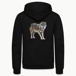 european wolf - Unisex Fleece Zip Hoodie by American Apparel