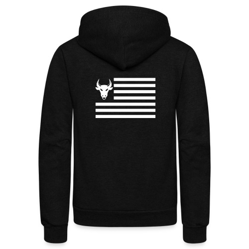 PivotBoss Flag White - Unisex Fleece Zip Hoodie