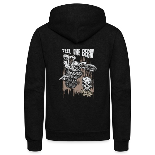 Motocross Feel The Berm - Unisex Fleece Zip Hoodie