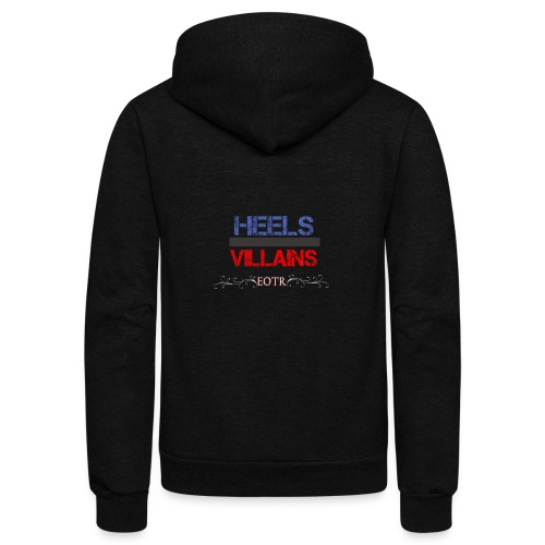 Eyes on the Ring Heels/Villains - Unisex Fleece Zip Hoodie