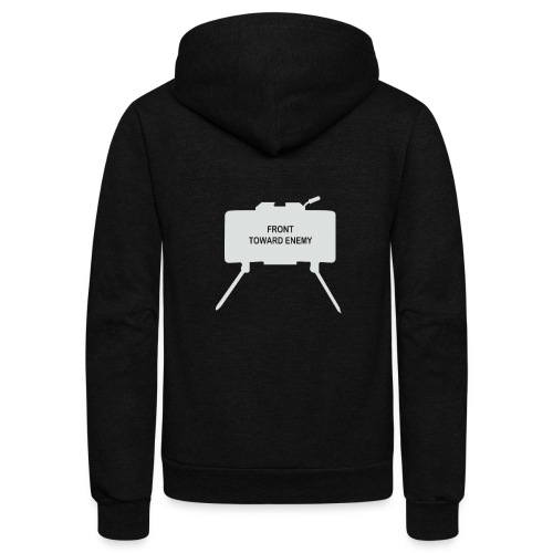 Claymore Mine (Minimalist/Light) - Unisex Fleece Zip Hoodie