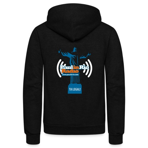Paul in Rio Radio - The Thumbs up Corcovado #2 - Unisex Fleece Zip Hoodie