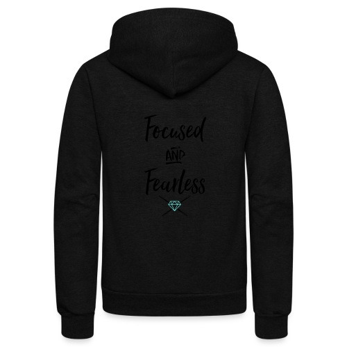 focused fearless (black) - Unisex Fleece Zip Hoodie