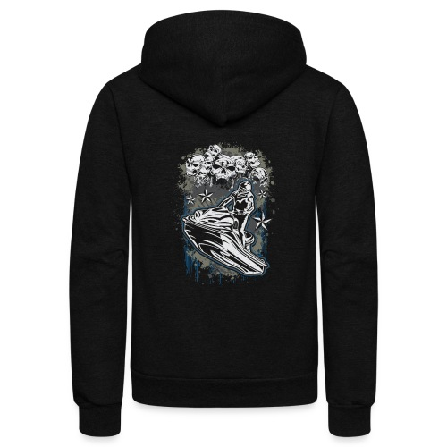 Jet Ski Skull Bunch - Unisex Fleece Zip Hoodie