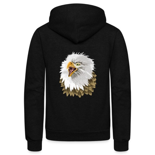 Big, Bold Eagle - Unisex Fleece Zip Hoodie