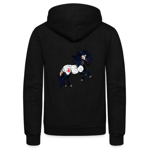 Appaloosa War Pony - Unisex Fleece Zip Hoodie