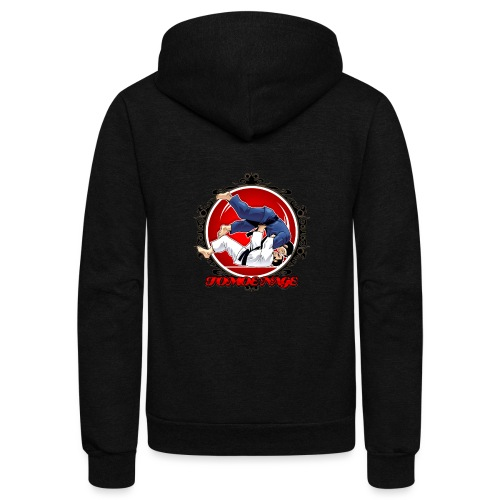Judo Throw Tomoe Nage - Unisex Fleece Zip Hoodie