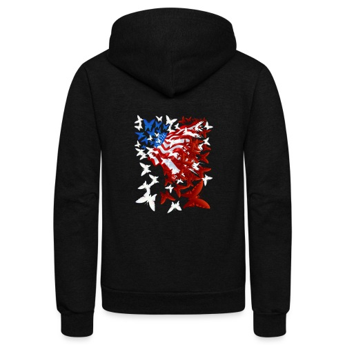 The Butterfly Flag - Unisex Fleece Zip Hoodie