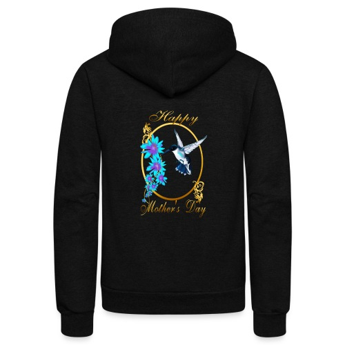 Mother's Day with humming birds - Unisex Fleece Zip Hoodie