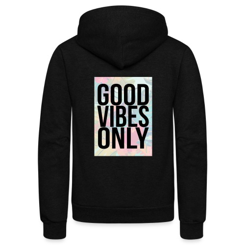good vibes only tropical - Unisex Fleece Zip Hoodie