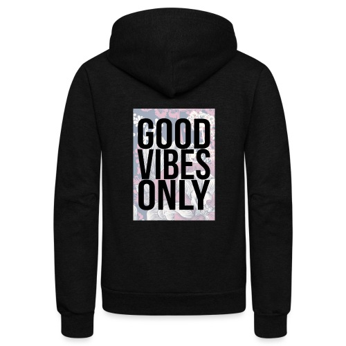 good vibes only oriental - Unisex Fleece Zip Hoodie