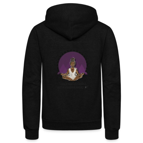 Meditating Goddess - Unisex Fleece Zip Hoodie