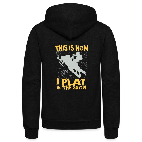 Snowmobile Snow Play - Unisex Fleece Zip Hoodie
