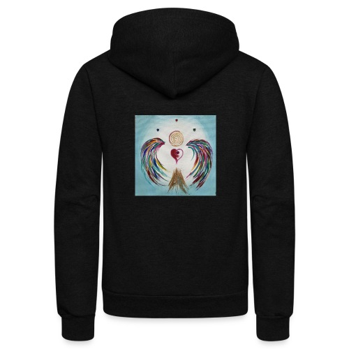Heartangel Rainbow - Unisex Fleece Zip Hoodie