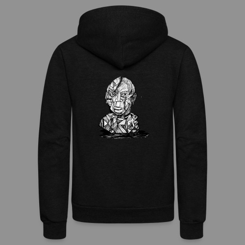 Wolfman Originals Black & White 21 - Unisex Fleece Zip Hoodie