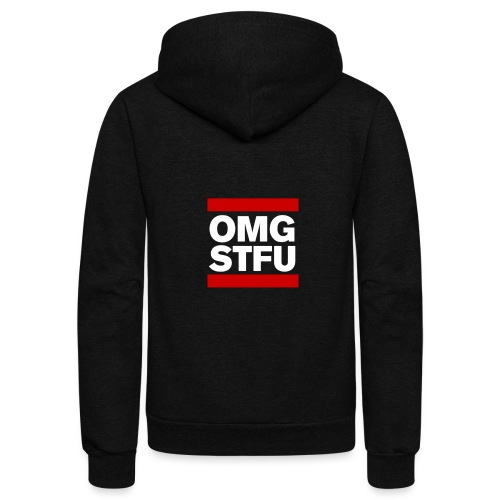 OMG STFU (white/color) - Unisex Fleece Zip Hoodie