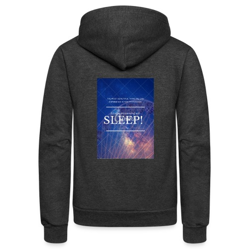 Sleep Galaxy by @lovesaccessories - Unisex Fleece Zip Hoodie