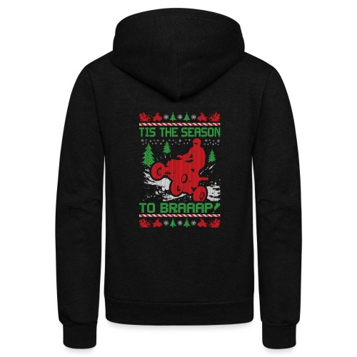 ATV Quad Christmas - Unisex Fleece Zip Hoodie