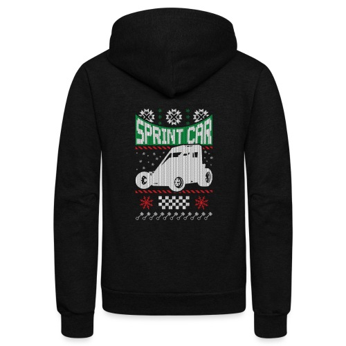 Sprint Car Christmas - Unisex Fleece Zip Hoodie