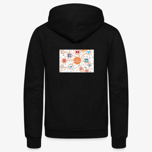social media marketing - Unisex Fleece Zip Hoodie