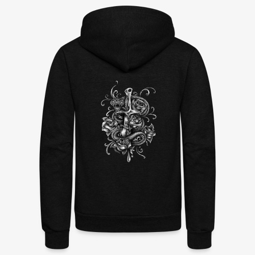 Dagger And Snake - Unisex Fleece Zip Hoodie