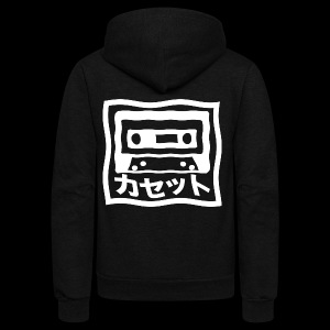 CASSETTE JAPENESE - Unisex Fleece Zip Hoodie by American Apparel