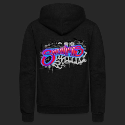 Sneakers Graffiti - Unisex Fleece Zip Hoodie