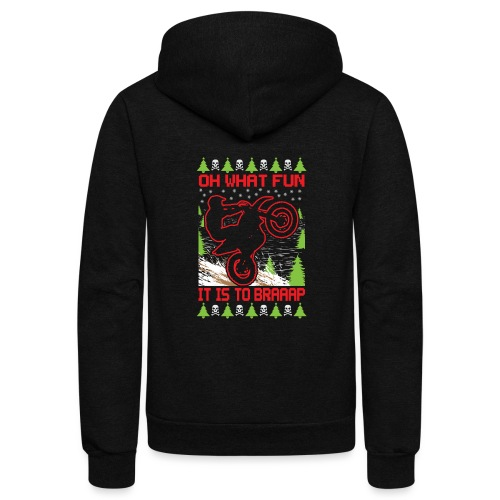 Ugly Christmas Motocross - Unisex Fleece Zip Hoodie