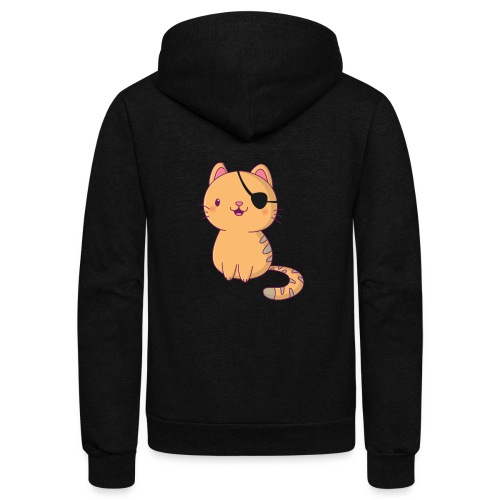 Cat with 3D glasses doing Vision Therapy! - Unisex Fleece Zip Hoodie