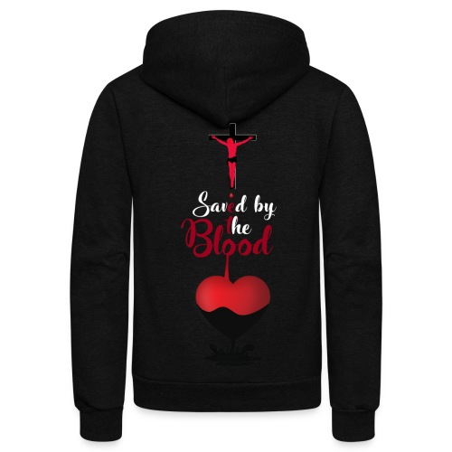 Saved by the Blood Tee - Unisex Fleece Zip Hoodie