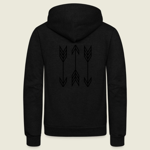 arrow symbols - Unisex Fleece Zip Hoodie